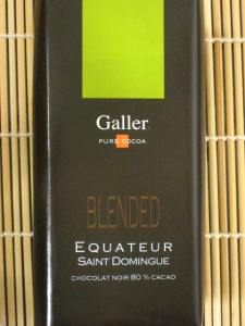 Galler Blended Equateur / Saint Domingue 80% Cacao