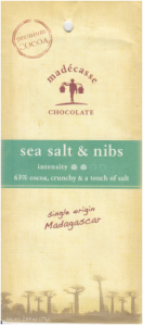 """Madecasse Salt and Nibs in New Packaging with their """"trademark"""" Natural Raffia Tie"""