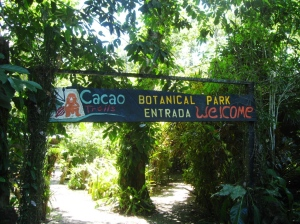 Entrance to the Cacao Trails