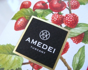 Amedei Toscano Red dark chocolate with cherries, raspberries and strawberries
